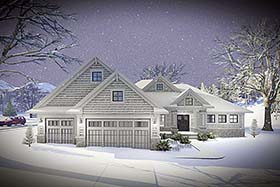 Cottage Country Craftsman House Plan 75432 Elevation