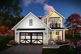 Cottage Craftsman Farmhouse House Plan 75434 Elevation