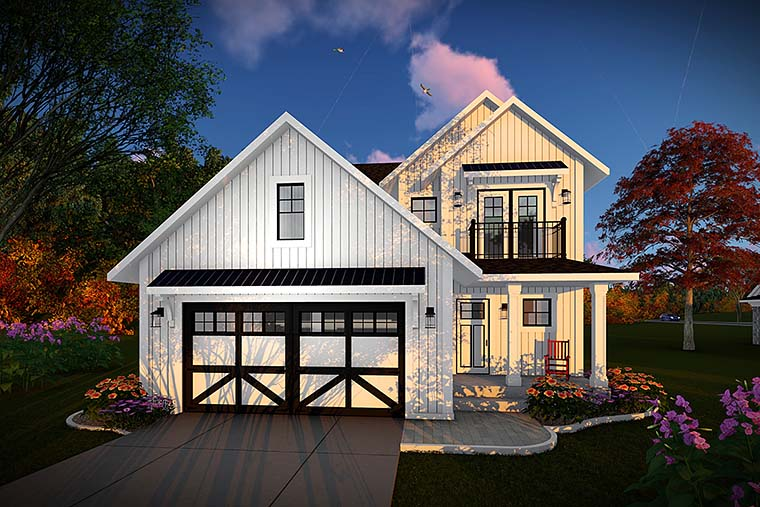 Cottage Craftsman Farmhouse House Plan 75434 Elevation