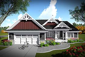 Bungalow Cottage Craftsman House Plan 75435 Elevation