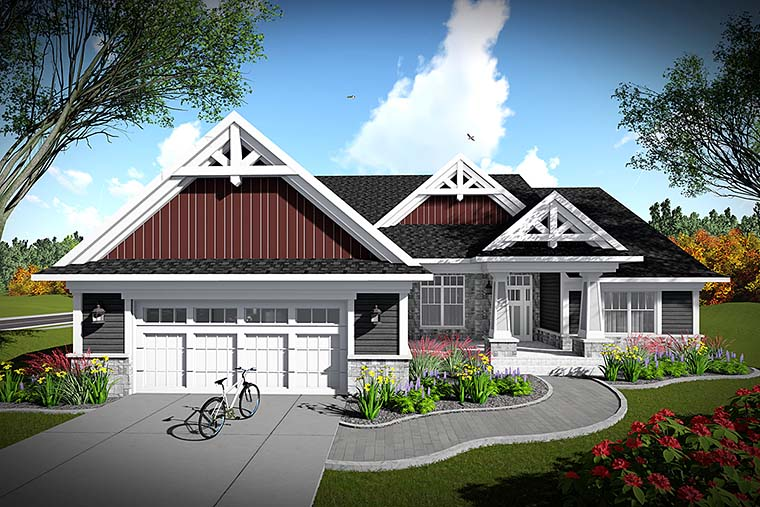Bungalow Cottage Craftsman House Plan 75435 Elevation