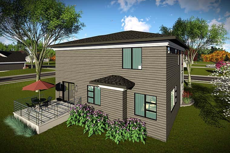 Modern House Plan 75436 Rear Elevation
