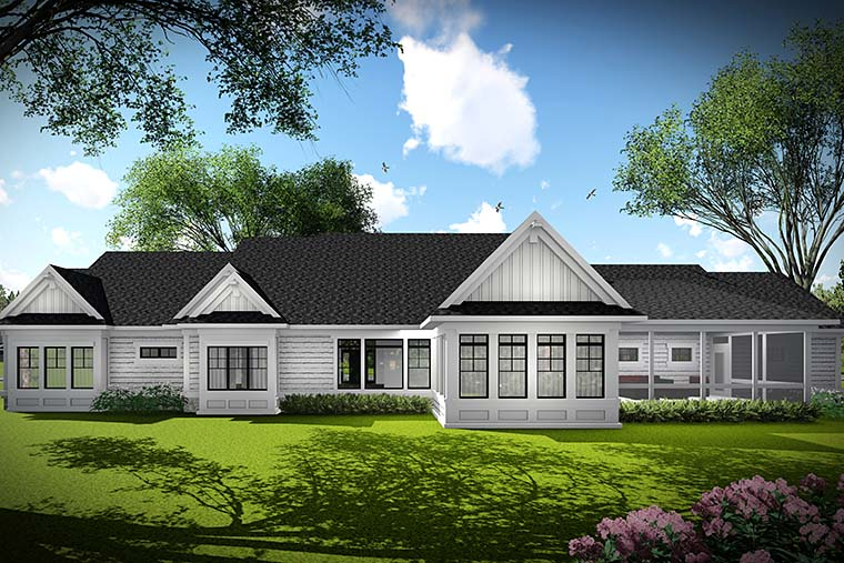 Country Traditional House Plan 75438