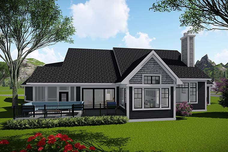Bungalow Cottage Craftsman House Plan 75439 Rear Elevation