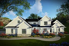 Country Farmhouse House Plan 75440 Elevation