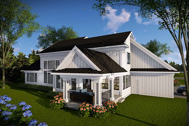 Country Farmhouse House Plan 75440 Rear Elevation