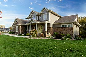 Traditional , Craftsman , Country House Plan 75441 with 4 Beds, 4 Baths, 4 Car Garage Elevation