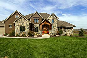 Craftsman Traditional House Plan 75442 Elevation