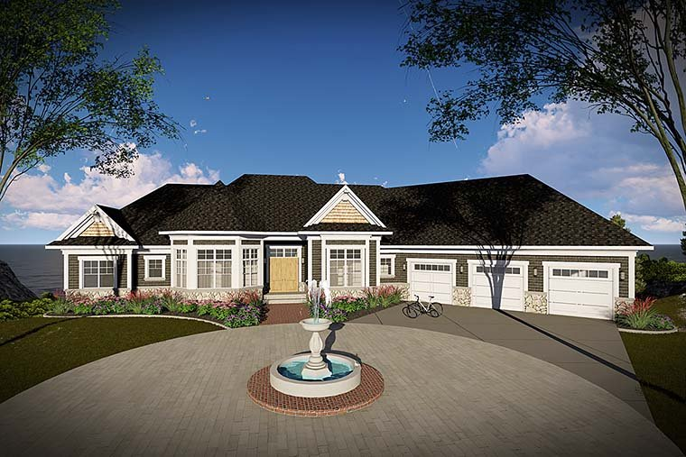 Traditional House Plan 75446 Elevation