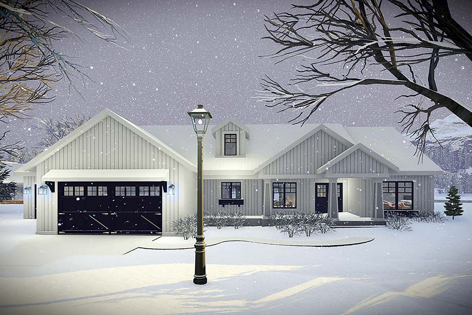 House Plan 75456 | Craftsman Farmhouse Modern Ranch Traditional Style Plan with 1921 Sq Ft, 3 Bedrooms, 2 Bathrooms, 3 Car Garage Elevation