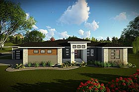 House Plan 75461 | Modern Ranch Tuscan Style Plan with 2267 Sq Ft, 3 Bedrooms, 3 Bathrooms, 4 Car Garage Elevation