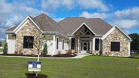 Craftsman , Ranch , Traditional House Plan 75462 with 3 Beds, 3 Baths, 3 Car Garage Elevation