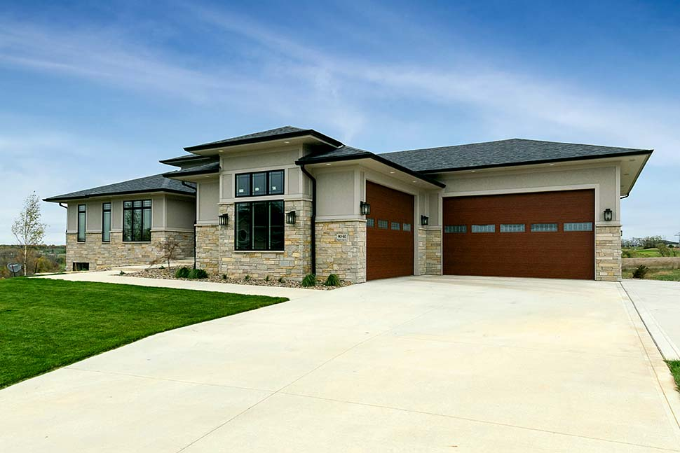 Contemporary, Modern House Plan 75463 with 2 Beds, 3 Baths, 4 Car Garage Picture 1