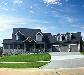 House Plan 75465 | Craftsman Traditional Style Plan with 3792 Sq Ft, 4 Bedrooms, 4 Bathrooms, 3 Car Garage Elevation