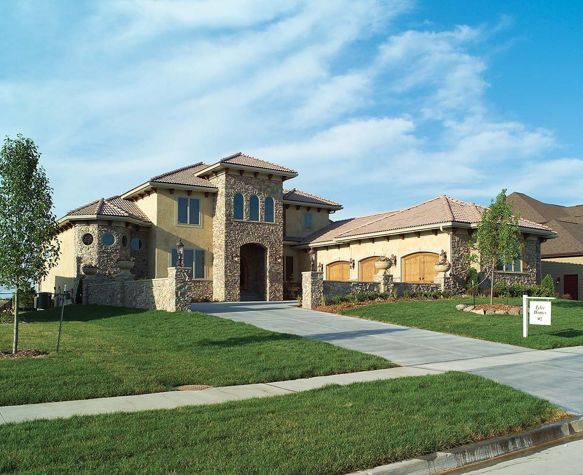Mediterranean, Southwest, Tuscan House Plan 75469 with 4 Beds, 4 Baths, 3 Car Garage Picture 1