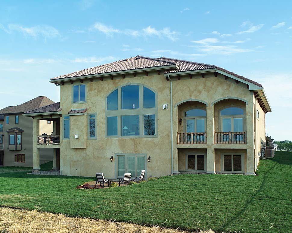 Mediterranean, Southwest, Tuscan House Plan 75469 with 4 Beds, 4 Baths, 3 Car Garage Picture 2
