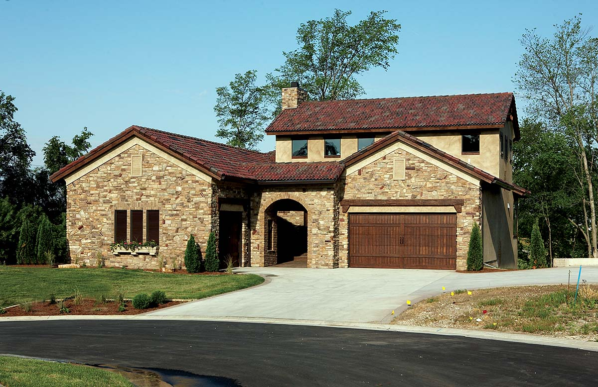 Southwest, Tuscan House Plan 75471 with 4 Beds, 3 Baths, 3 Car Garage Front Elevation