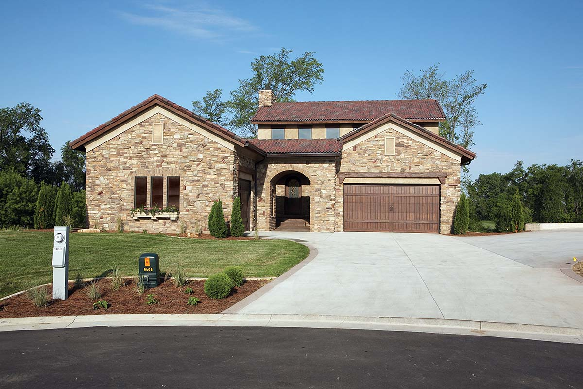 Southwest, Tuscan House Plan 75471 with 4 Beds, 3 Baths, 3 Car Garage Picture 1