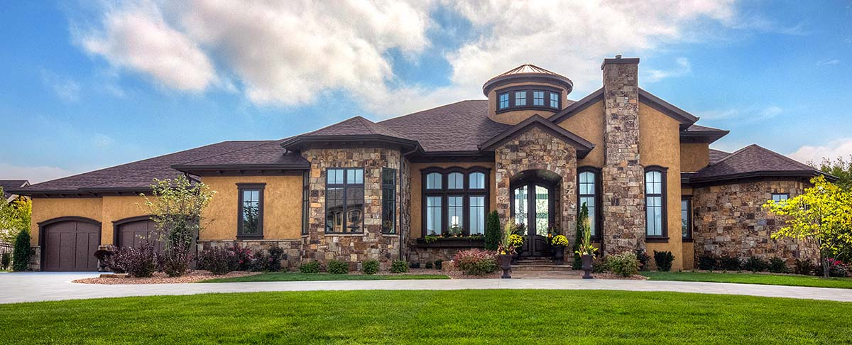 Mediterranean, Ranch, Southwest House Plan 75475 with 5 Beds, 8 Baths, 4 Car Garage Elevation