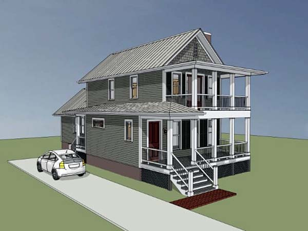 Colonial, Southern House Plan 75500 with 3 Beds, 3 Baths Picture 2