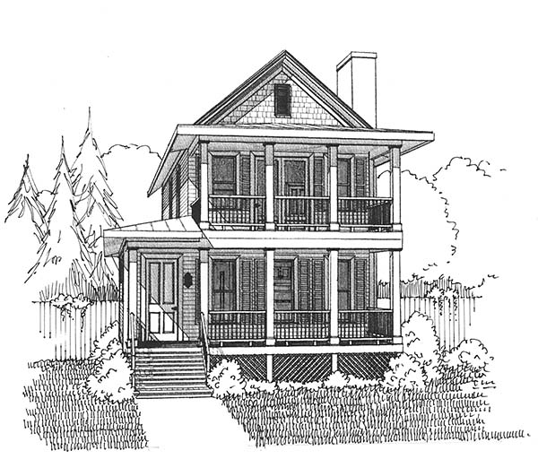 Colonial, Southern House Plan 75500 with 3 Beds, 3 Baths Picture 3
