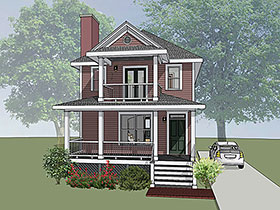 Southern , Colonial House Plan 75503 with 3 Beds, 3 Baths Elevation