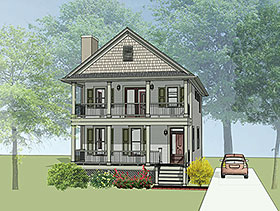 Colonial Southern House Plan 75504 Elevation