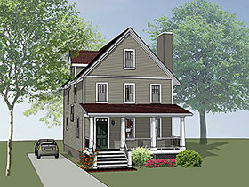 House Plan 75505 | Colonial Southern Style Plan with 1667 Sq Ft, 3 Bedrooms, 3 Bathrooms Elevation