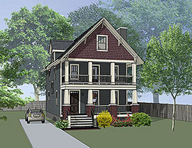 House Plan 75506 | Bungalow, Craftsman Style House Plan with 1667 Sq Ft, 3 Bed, 3 Bath Elevation