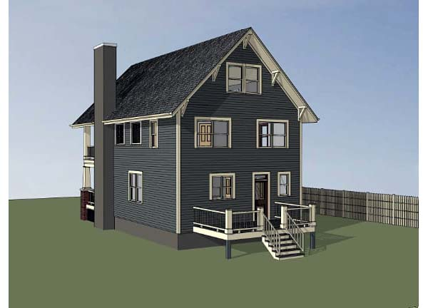 Bungalow, Craftsman House Plan 75506 with 3 Beds, 3 Baths Picture 1