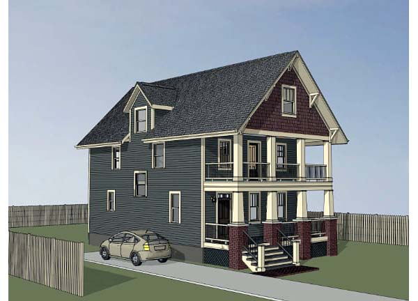 Bungalow, Craftsman House Plan 75506 with 3 Beds, 3 Baths Picture 2