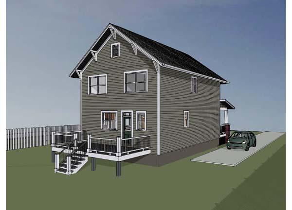 Bungalow Craftsman House Plan 75507 Rear Elevation