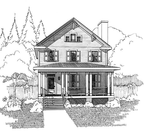 Colonial, Country House Plan 75508 with 3 Beds, 3 Baths Picture 2