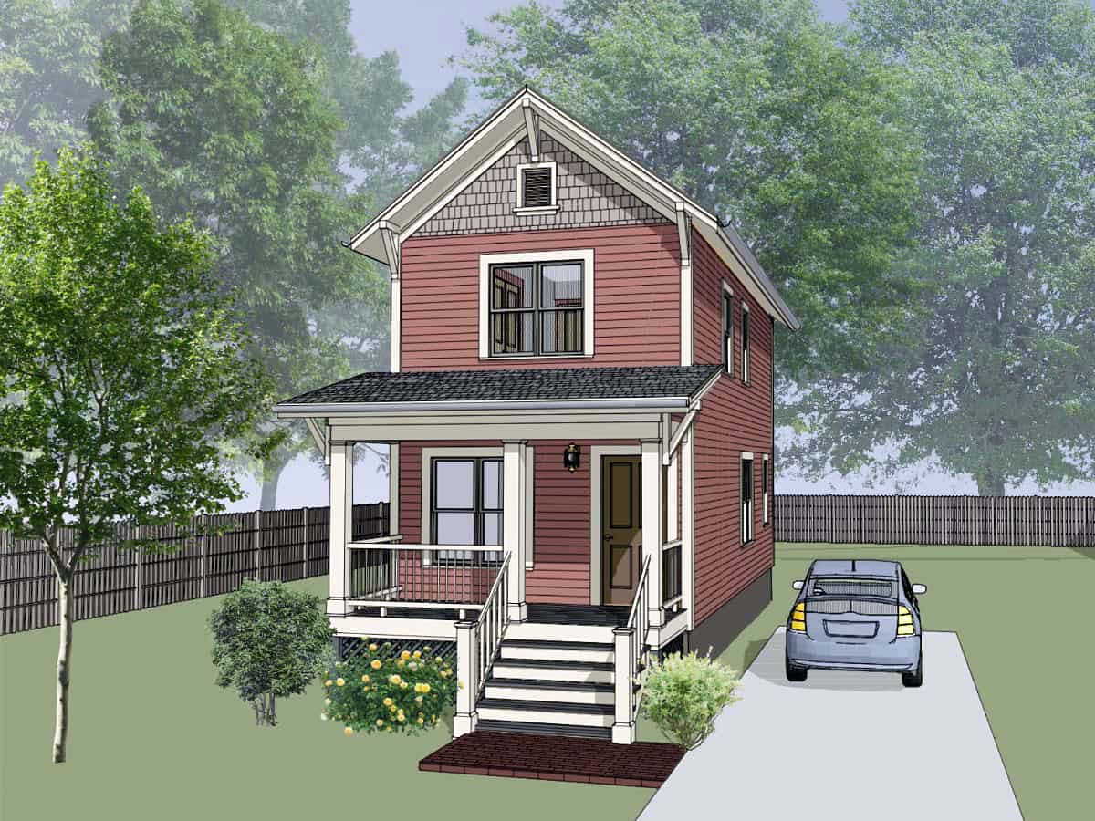 Colonial , Southern , Elevation of Plan 75513