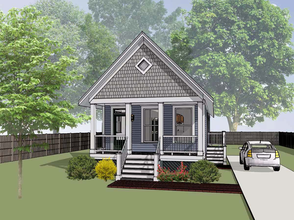 Bungalow , Colonial , Cottage , Elevation of Plan 75514