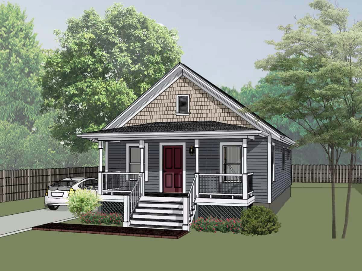 Bungalow House Plan 75517 with 2 Beds, 1 Baths Elevation