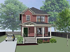 Southern , Country , Colonial House Plan 75519 with 3 Beds, 2 Baths Elevation