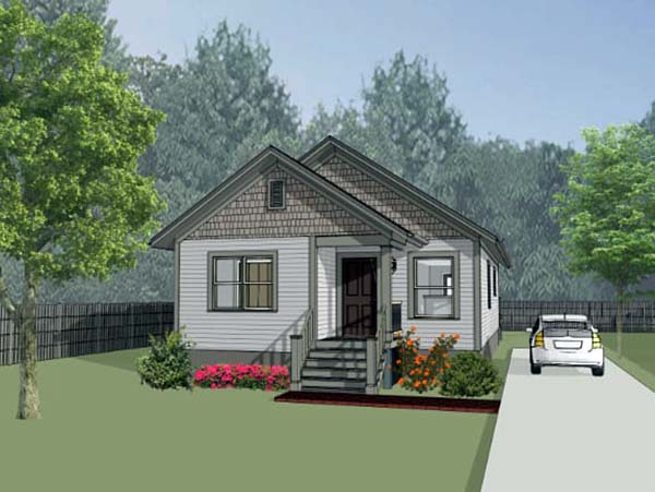 Bungalow House Plan 75522 with 3 Beds, 2 Baths Elevation