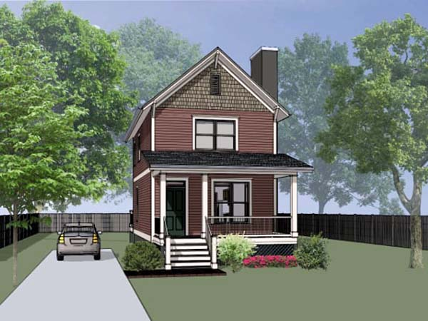 Colonial, Southern House Plan 75523 with 2 Beds, 3 Baths Elevation