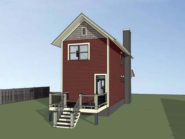 Colonial , Country , Southern House Plan 75525 with 2 Beds, 3 Baths Rear Elevation