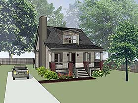 Cottage , Bungalow House Plan 75526 with 3 Beds, 2 Baths Elevation