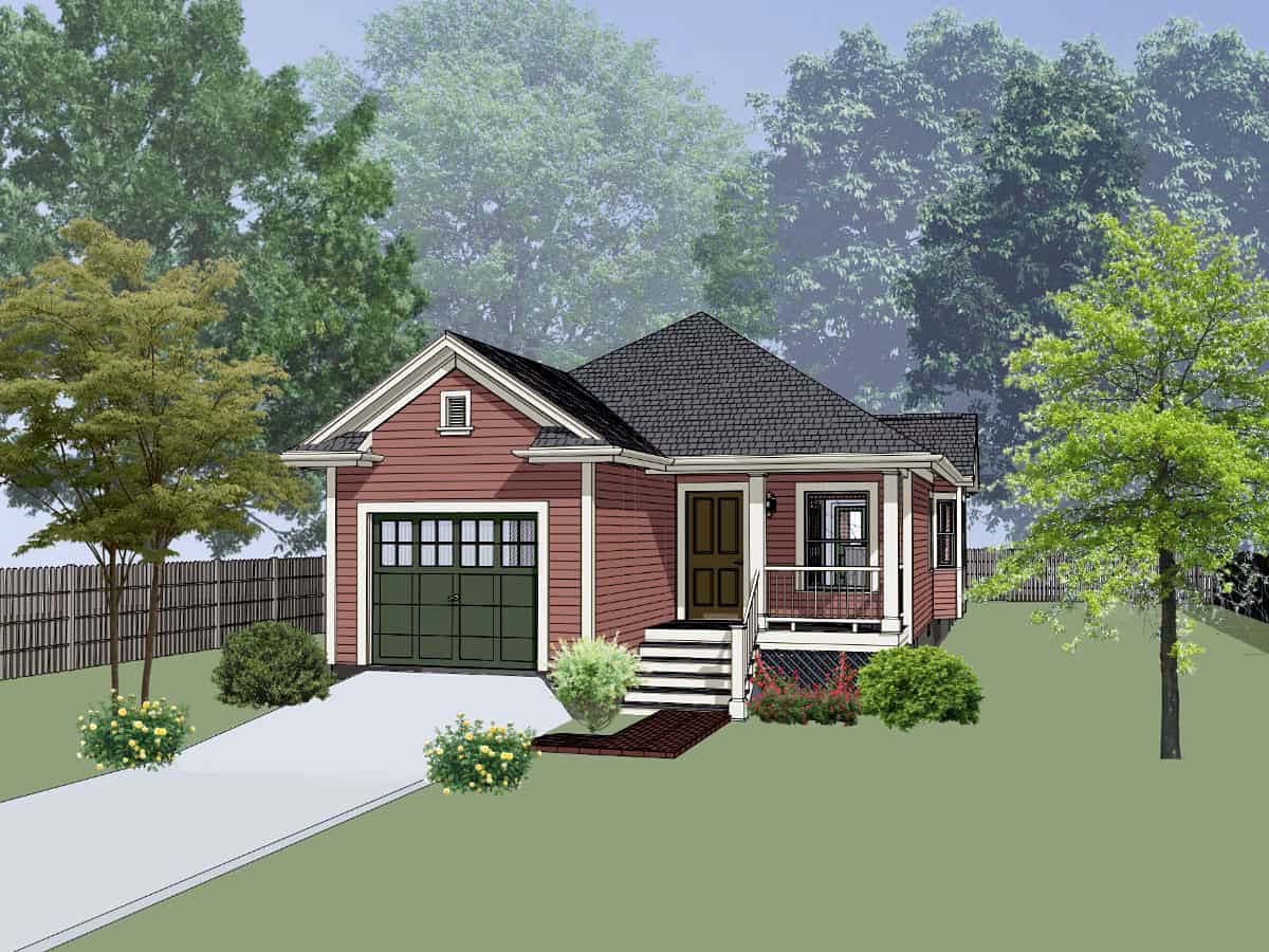 Bungalow, Cottage House Plan 75528 with 3 Beds, 2 Baths, 1 Car Garage Elevation