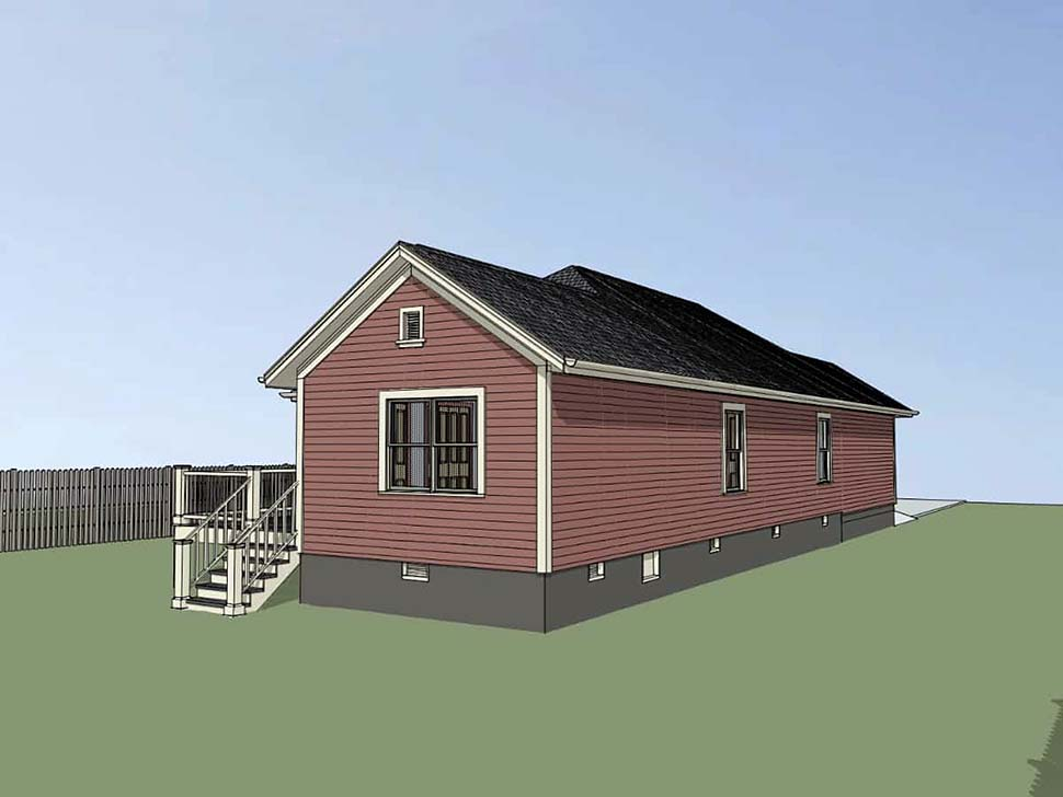 Bungalow, Cottage House Plan 75528 with 3 Beds, 2 Baths, 1 Car Garage Picture 1