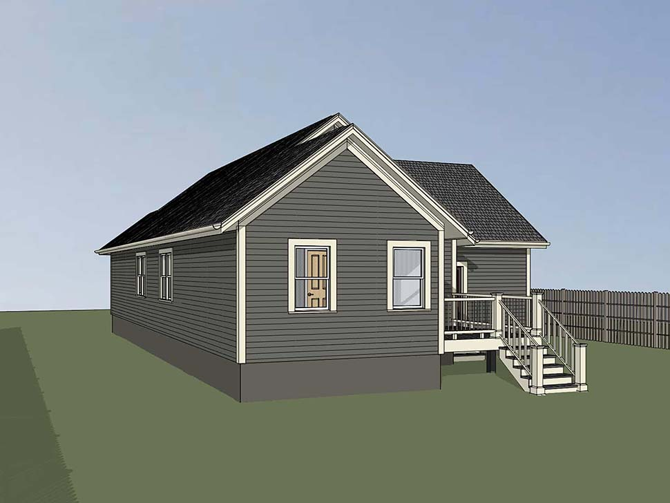 Bungalow, Cottage House Plan 75530 with 4 Beds, 2 Baths, 1 Car Garage Picture 1