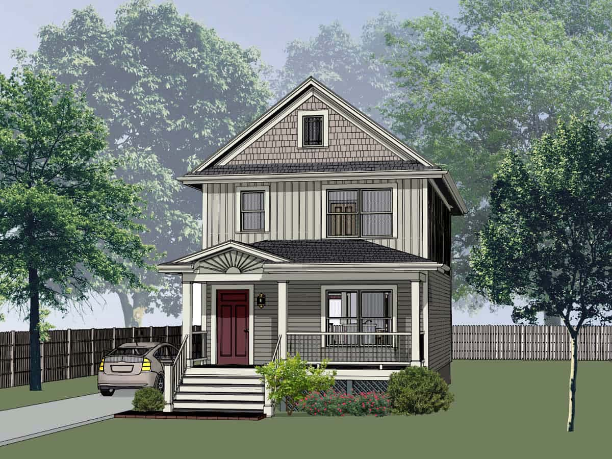 Colonial, Country House Plan 75531 with 3 Beds, 3 Baths Elevation