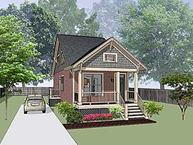 Country , Cottage House Plan 75533 with 3 Beds, 2 Baths Elevation