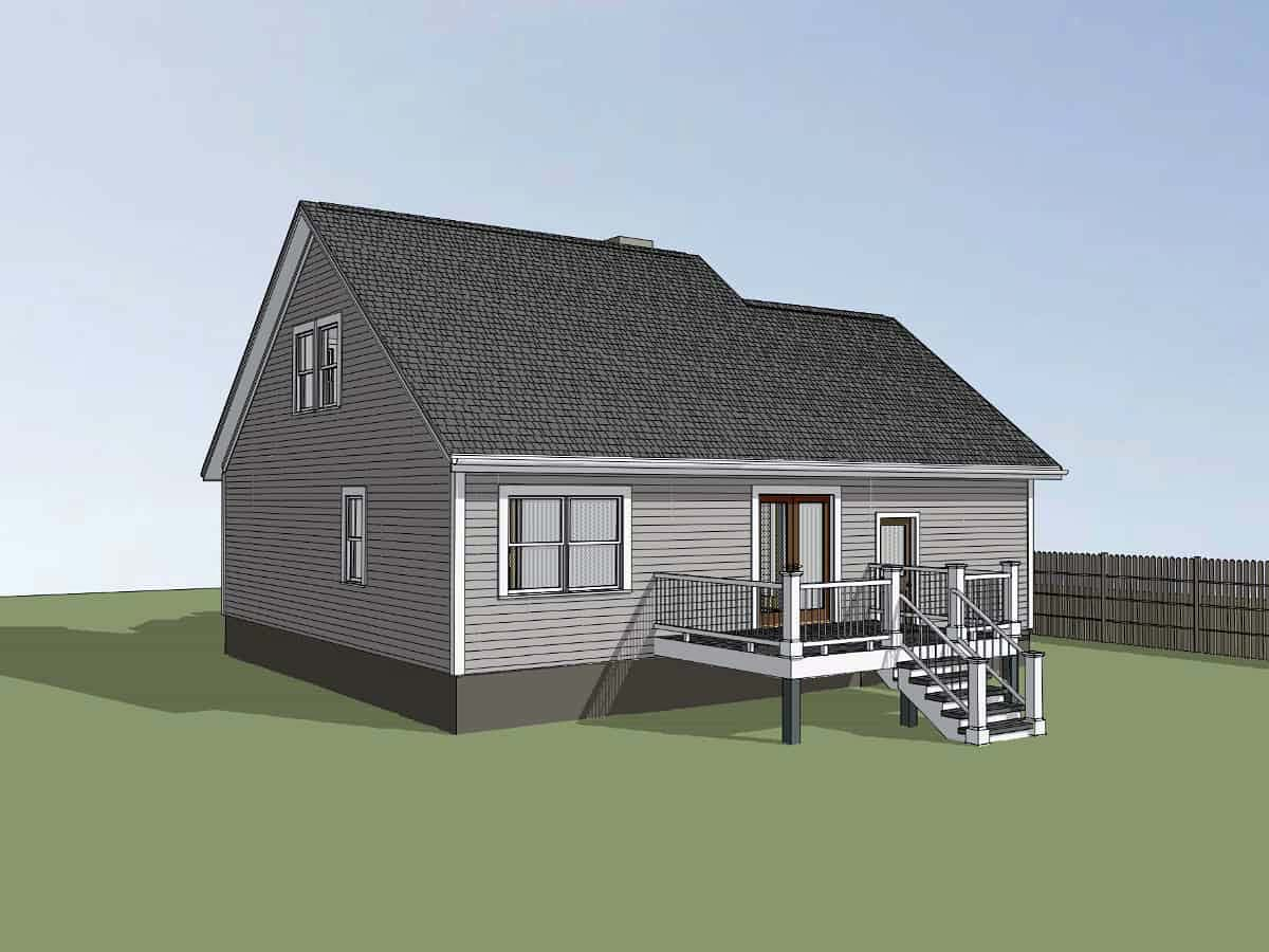 Bungalow House Plan 75534 with 3 Beds, 2 Baths, 1 Car Garage Picture 1