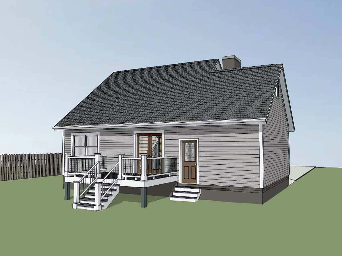 Bungalow House Plan 75534 with 3 Beds, 2 Baths, 1 Car Garage Picture 2