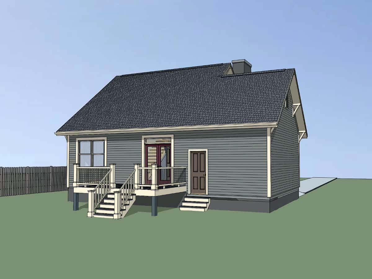 Bungalow, Craftsman House Plan 75535 with 3 Beds, 2 Baths, 1 Car Garage Picture 2