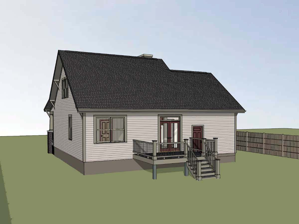 Bungalow, Cottage House Plan 75536 with 3 Beds, 2 Baths, 1 Car Garage Picture 1
